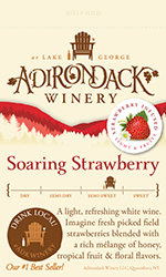 Adk Winery Soaring Strawberry Shelf Talker