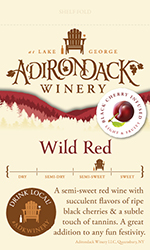 Adk Winery Wild Red Shelf Talker