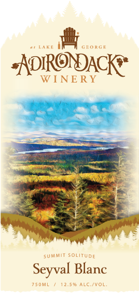Adirondack Winery Seyval Front Label