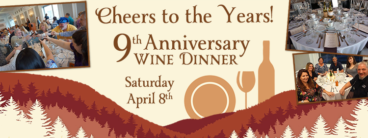 Adirondack Winery 9th Anniversary Wine Dinner at the Fort William Henry Hotel in Lake George: April 8, 2017