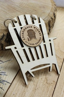 Adirondack Winery Chair Wooden Ornament