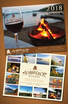 2018 Adirondack Winery Wall Calendar