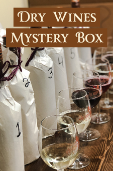 Mystery Box Wine Tasting Game 6-Pack DRY