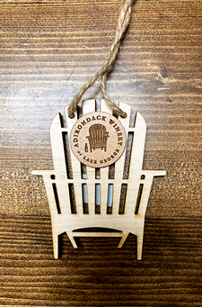 Adirondack Winery Chair Flat Wooden Ornament