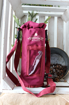 Logo Grab & Go Insulated Bottle Carrier - Burgundy