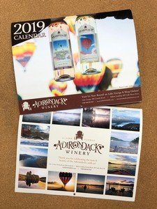 2019 Adirondack Winery Wall Calendar