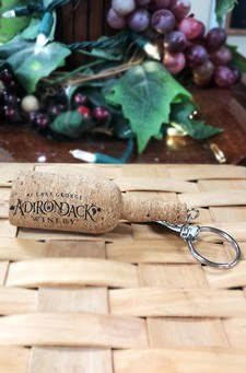 Adirondack Winery Logo Cork Wine Bottle Keychain