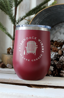 ADK Winery Logo Stainless Steel Wine Tumbler Sippy Cup - Maroon
