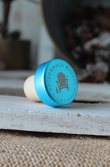 Adirondack Winery Metallic Bottle Stopper - Teal