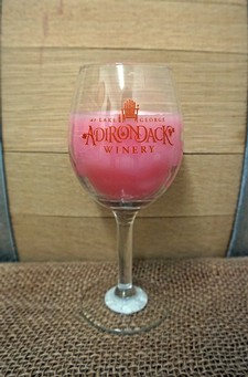 DRINK PINK Wine Glass Candle