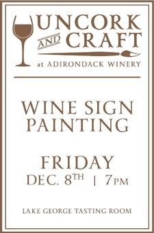 Uncork & Craft: Wine Sign Painting