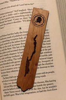 Lake George Wooden Bookmark with ADK Winery Logo