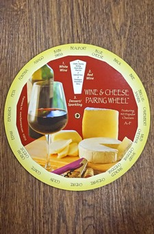 Wine and Cheese Pairing Wheel