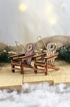 ADK Winery 3-D Logo Chair Ornament