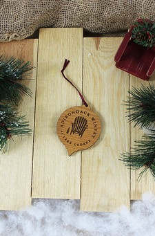 Adk Winery Round Wooden Ornament