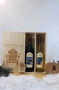 2 Bottle Wooden Gift Box Set With Blue Twilight & Prospect Mountain White