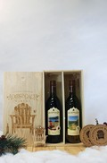 2 Bottle Wooden Gift Box Set With Orchard Blossom & Wild Red