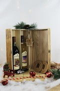 2 Bottle Wooden Wine Box Gift Set