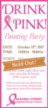 Drink Pink! Painting Party Ticket (Oct 13)