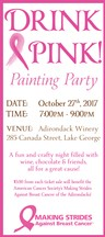 Drink Pink! Painting Party Ticket (Oct 27)