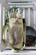 Logo Grab & Go Insulated Bottle Carrier - Tan