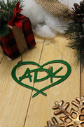 Love Is On Lake George - Heart ADK - Green Ornament