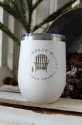 ADK Winery Logo Stainless Steel Wine Tumbler Sippy Cup - White