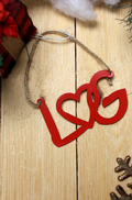 Love Is On Lake George - Heart LG - Red Ornament