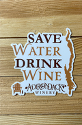 Save Water Drink Wine Logo Sticker
