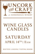 Uncork & Craft: 10th Anniversary Wine Glass Candles