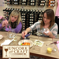 11th Anniv Uncork & Craft Wine Glass Painting Image