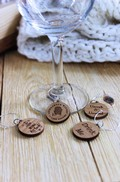 Adirondack Winery Wooden Wine Charms