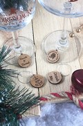 Wooden Wine Charms