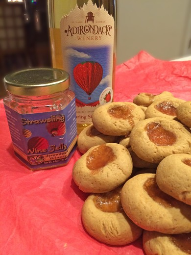 Soaring Strawberry Wine Infused Shortbread Cookies