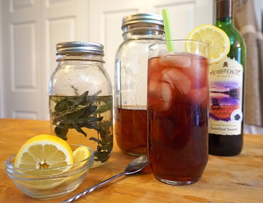 Blackberry Sage Iced Tea